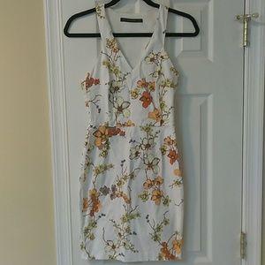 Zara floral print mini dress